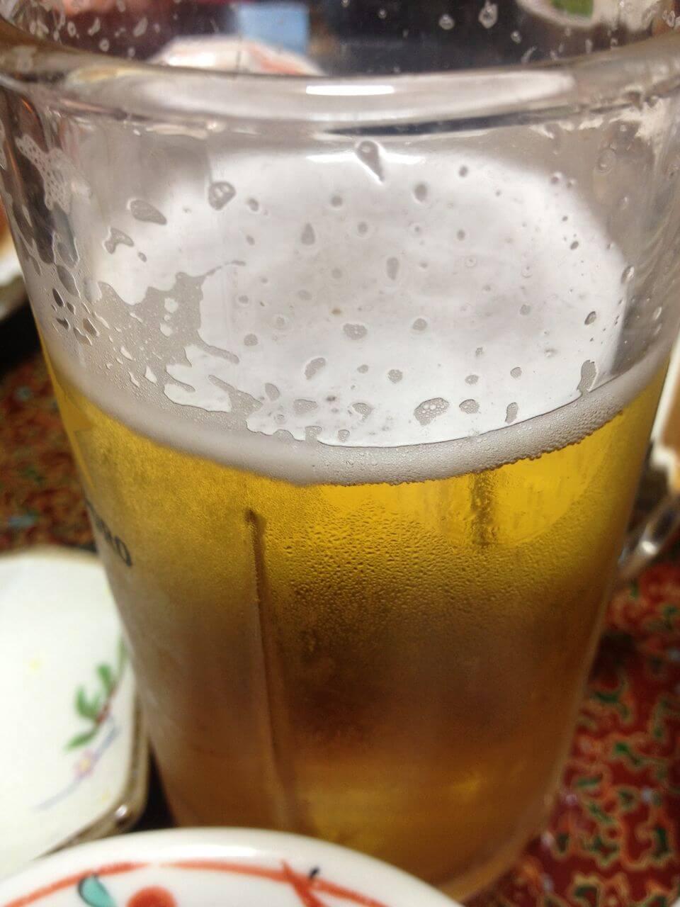 2日目夕食はビール付き