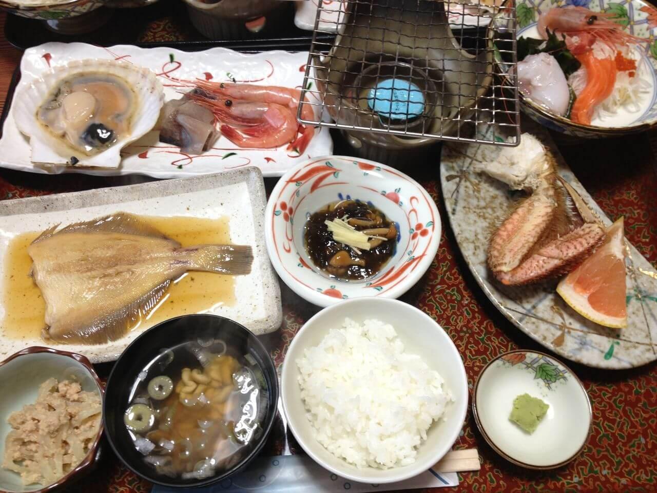 1日目民宿栄丸夕食