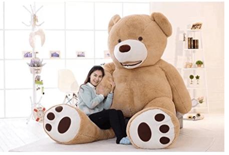 Amazon | ぬいぐるみ 特大 くま/テディベア 可愛い熊 動物 250cm 大きい/巨大 くまぬいぐるみ/熊縫い包み/クマ抱き枕/お祝い/ふわふわぬいぐるみ | ぬいぐるみ | おもちゃ 通販