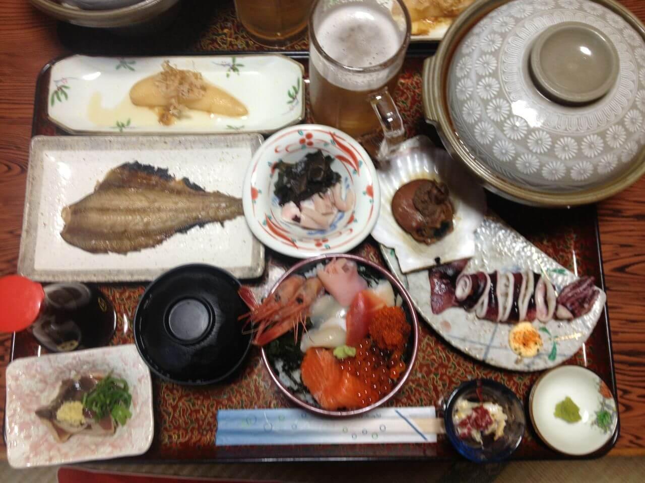2日目民宿栄丸夕食