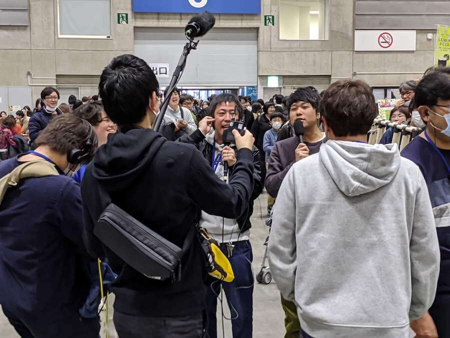 番組中継中のさらば青春の光の森田 哲矢さんと東ブクロさん①