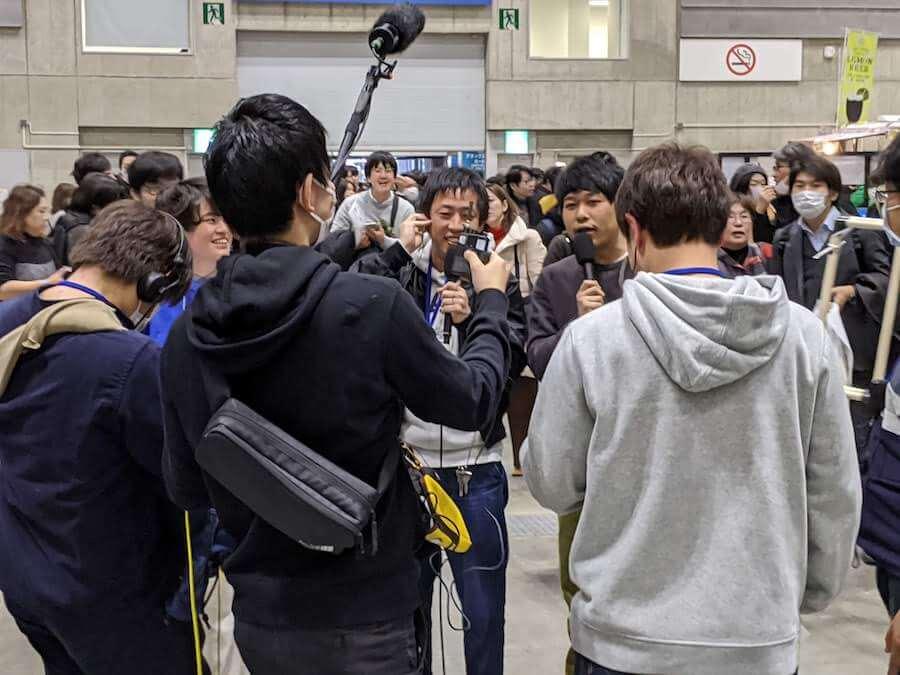 番組中継中のさらば青春の光の森田 哲矢さんと東ブクロさん②