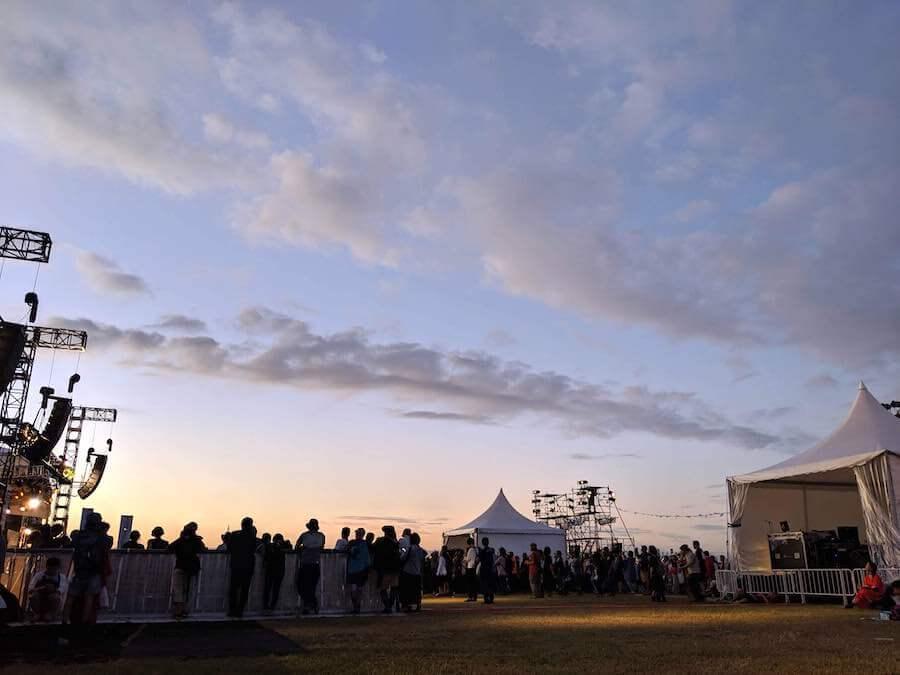 美しかった渋大祭の夕焼け