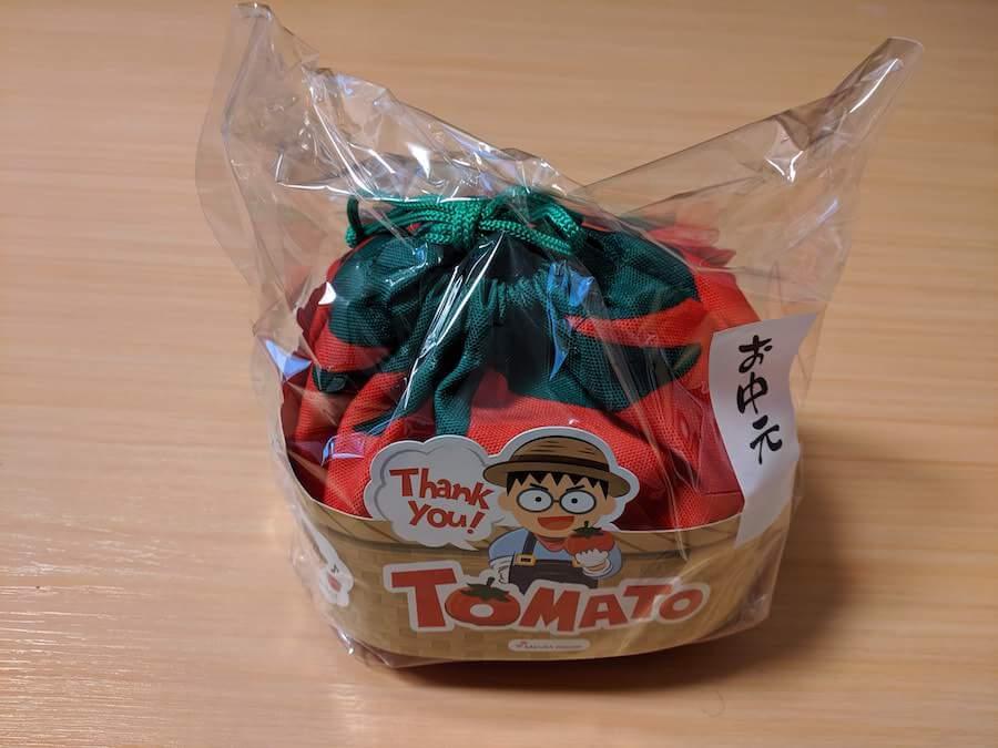 2019年お中元トマトゼリーの巾着袋